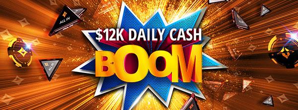 12 000 $ de prix en cash en jeu chaque jour !